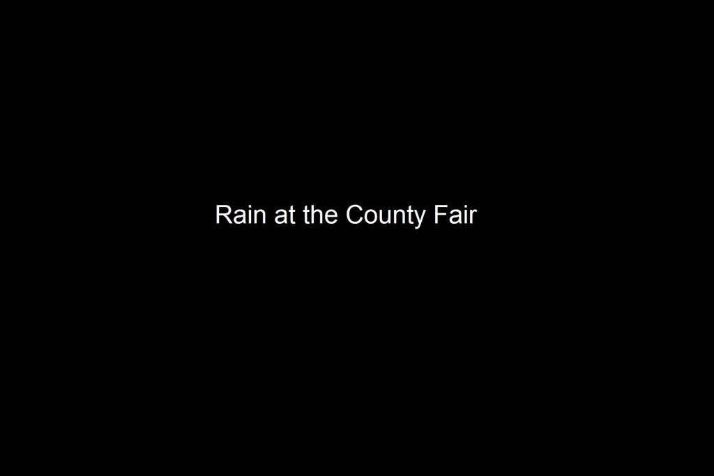 Evening showers kept most patrons from the  Moore County Fair on Thursday, October 1, 2015 in Carthage, North Carolina.