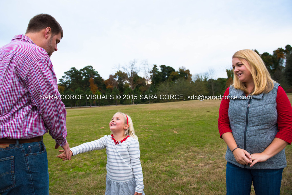 Greg and Lucy Noble stand for family portraits with their children Wesley and Kate at the Pinehurst Arboretum Park on Sunday, November 16, 2015 in Pinehurst, North Carolina.